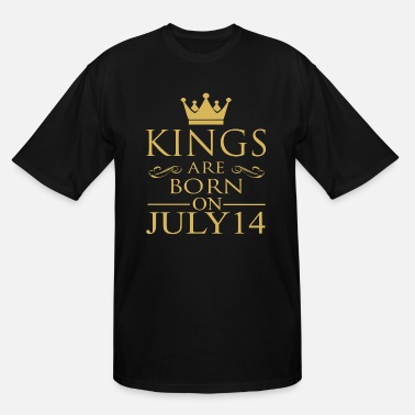 14 Birthday Kings are born on July 14 - Men's Tall T-Shirt