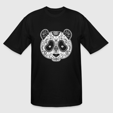 Sugar Skull PANDA Day of the Dead los muertos Mexi - Men's Tall T-Shirt