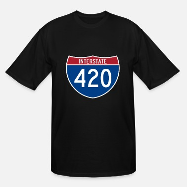 Interstate Sign Interstate 420 - Men's Tall T-Shirt
