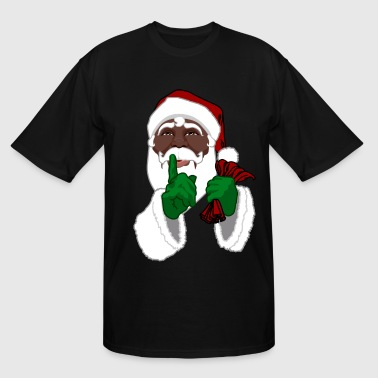 African American Santa Black Santa Clause - Men's Tall T-Shirt