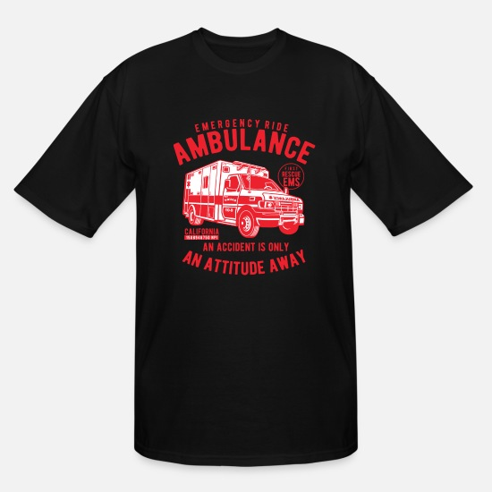 Ambulance T-Shirts - Ambulance Emergency Ride - Men's Tall T-Shirt black