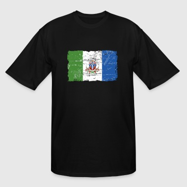 Yukon Flag - Vintage Look - Men's Tall T-Shirt
