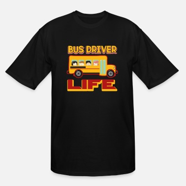 School School Bus Driver Shirt - Men's Tall T-Shirt