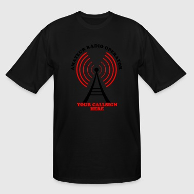Radio Antenna amateur ham radio callsign antenna - Men's Tall T-Shirt