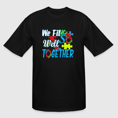 JIGSAW PUZZLE FIT WELL TOGETHER SHIRT - Men's Tall T-Shirt