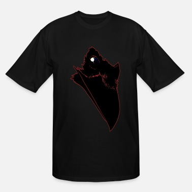 Red Raven Universe Raven - Red Outlined - Men's Tall T-Shirt