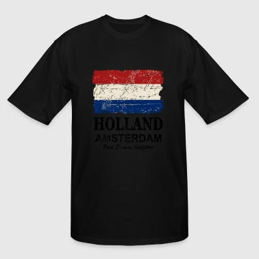 Holland Flag - Vintage Look  - Men's Tall T-Shirt