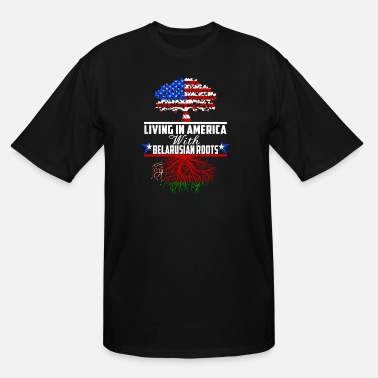 Belarusian Living In America With Belarusian Roots - Men's Tall T-Shirt