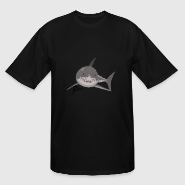 Great White Shark - Swaggy Shark - Men's Tall T-Shirt