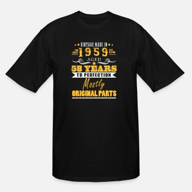 58 Birthday Vintage made in 1959 - 58 years to perfection (v.2017) - Men's Tall T-Shirt