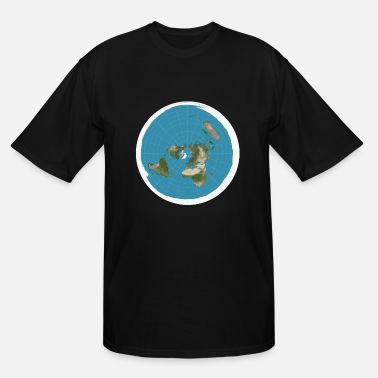 Flat Flat Earth - Men's Tall T-Shirt