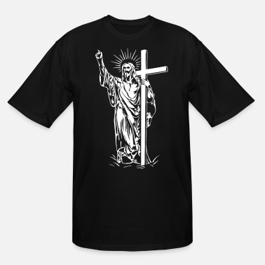 Jesus Christ and a cross - Men's Tall T-Shirt