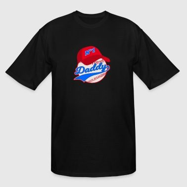 Fathers Day Baseball Baseball Father Fathers Day Men Daddy Dad - Men's Tall T-Shirt