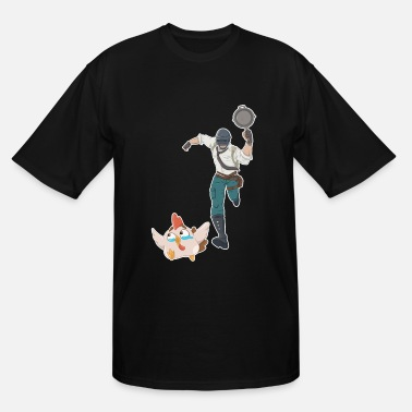 Pochinki Chasing the Chicken Dinner - Men's Tall T-Shirt