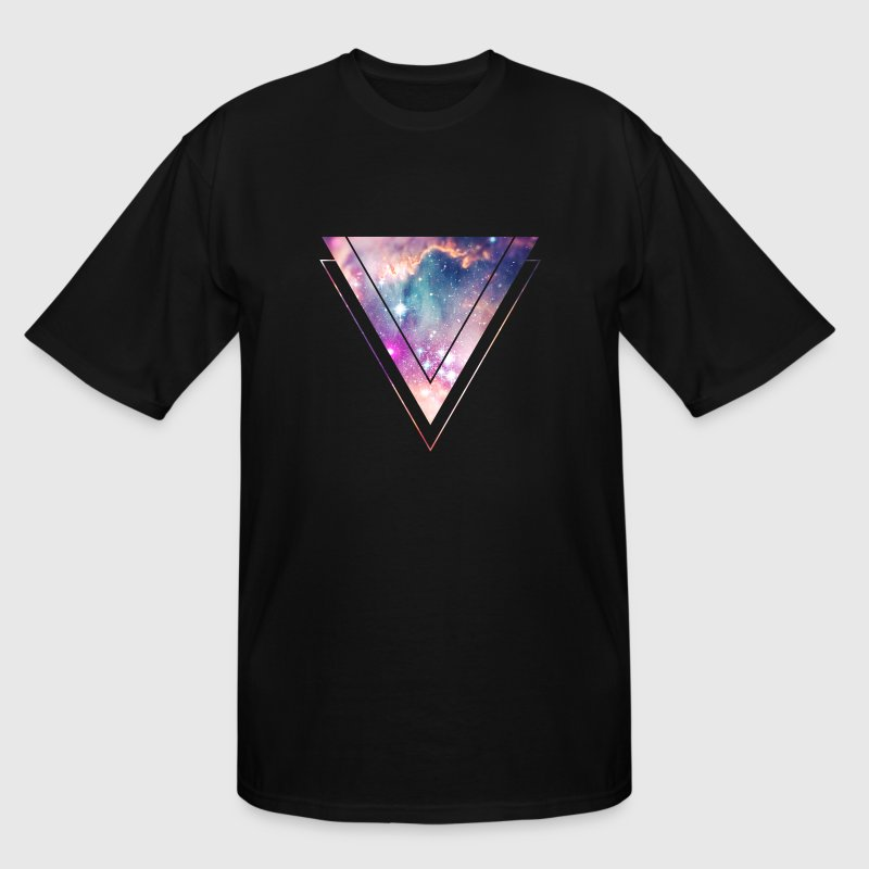Galaxy - Space - Universe / Hipster Triangle - Men's Tall T-Shirt
