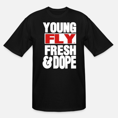 Dope Jesus YOUNG FLY FRESH & DOPE - Men's Tall T-Shirt