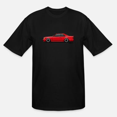 Monkey Crisis On Mars Mercedes W124 300CE AMG Red - Men's Tall T-Shirt