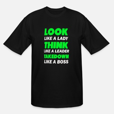 Leader Symbols Look like a lady think like a leader Takedown - Men's Tall T-Shirt