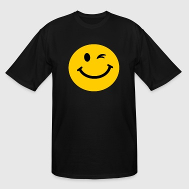 Winking Smiley face - Men's Tall T-Shirt