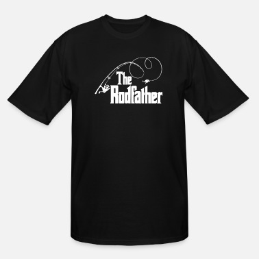 Fishing Rod The Rodfather Top Rod Fishing Fish The Godfather - Men's Tall T-Shirt
