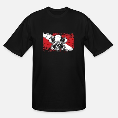 Scuba FLAG SKULL Diving/Tauchen/busseig/Mergulho/Buceo - Men's Tall T-Shirt