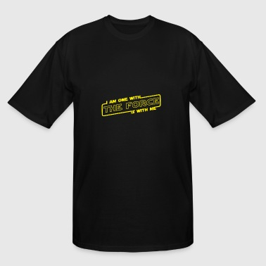 i am one with the force is with me - Men's Tall T-Shirt