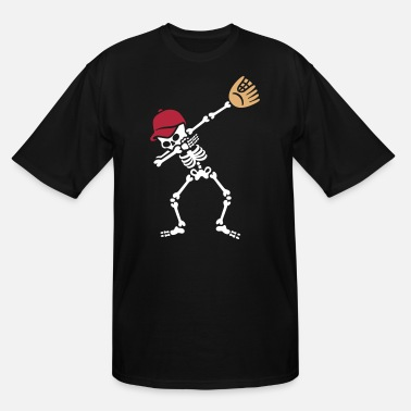 Softball Dab dabbing skeleton baseball / softball - Men's Tall T-Shirt