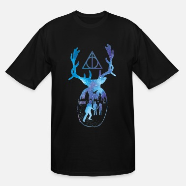 Rowling HP Harry Potter Patronus Deathly Hallows Hogwarts - Men's Tall T-Shirt