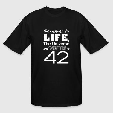 Answer 42 The answer is 42 - Men's Tall T-Shirt