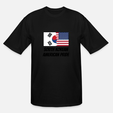 South Korean American Flag South Korean American Pride - Men's Tall T-Shirt