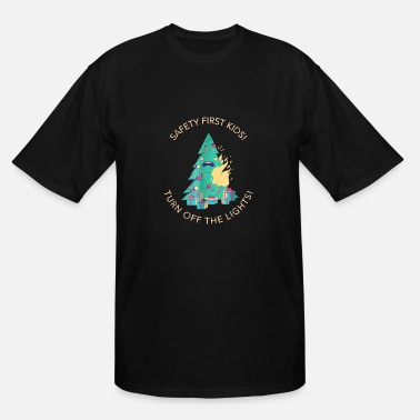 Safety Kids Safety First Kids Turn Off The Lights Christmas - Men's Tall T-Shirt