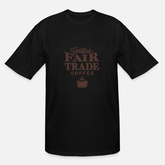 Coffee Bean T-Shirts - Fertified fair trade coffee - Men's Tall T-Shirt black