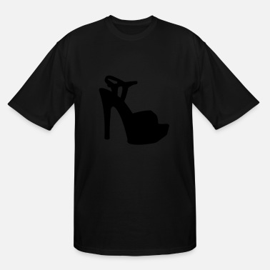 Highheeled Shoes Vector high heels shoes Silhouette - Men's Tall T-Shirt