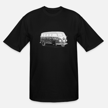 HippieBus blackandwhite - Men's Tall T-Shirt
