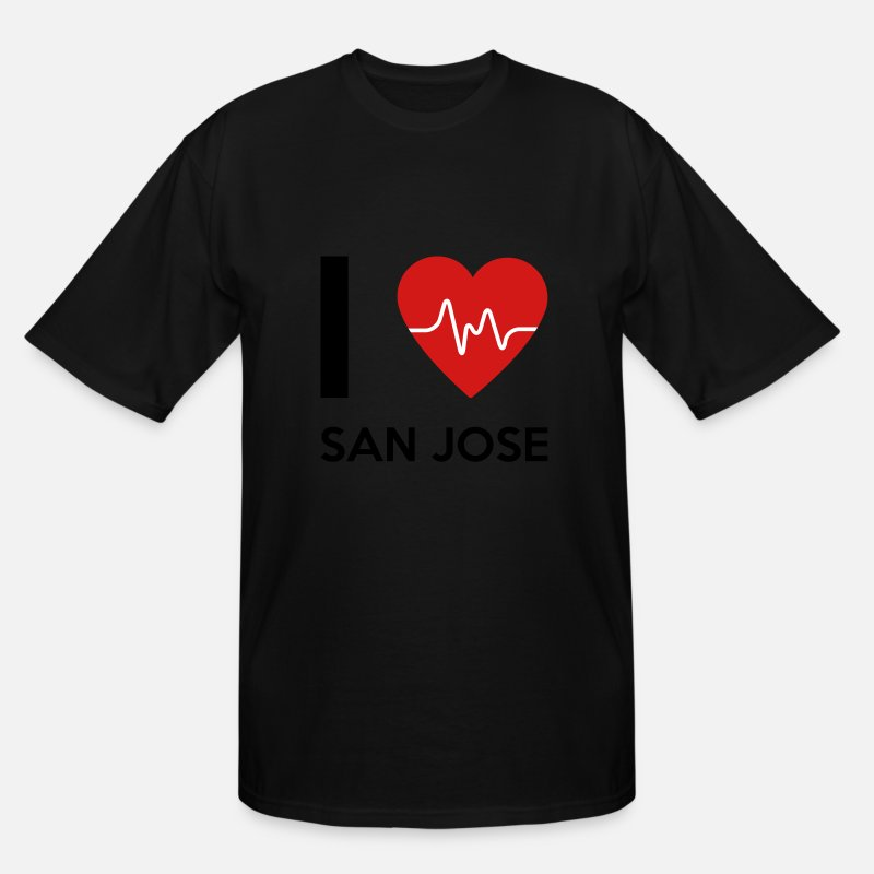 Hometown T-Shirts - I Love San Jose - Men's Tall T-Shirt black