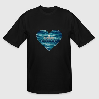 I love oceans - Men's Tall T-Shirt