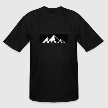 Mountains with firs - Men's Tall T-Shirt