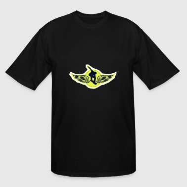 Custom Fly Flying snowboarder - Men's Tall T-Shirt
