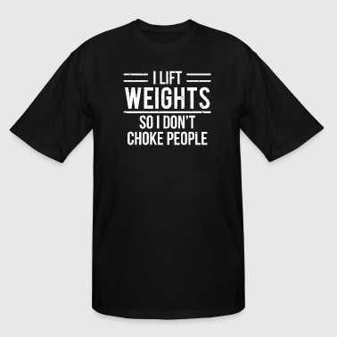 Barbell Lifting Weights Workout Gym Lift Weights Funny Weightlifting Workout T-Shirt - Men's Tall T-Shirt