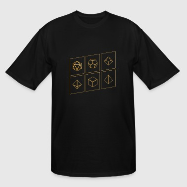 Minimalist Nerd Minimalist Polyhedral Dice Set Tabletop RPG - Men's Tall T-Shirt