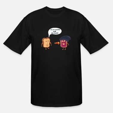 Funny Toast toast threat - watergun - Men's Tall T-Shirt
