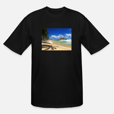 Beach with palm trees, Sri Lanka - Men's Tall T-Shirt