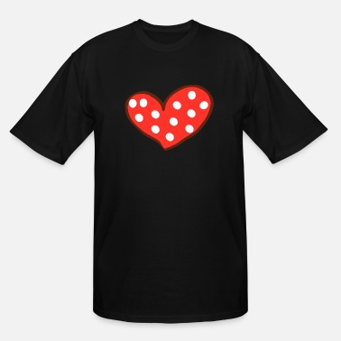 I Love Red Heart I Love You Valentines Day - Men's Tall T-Shirt