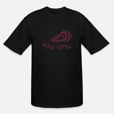 New Zealand Tribal Kia ora Waves Design Maori Hello Gift Idea - Men's Tall T-Shirt