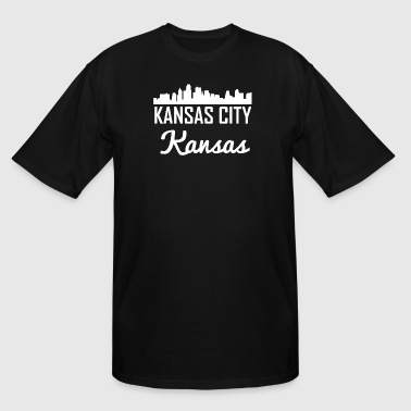 Kansas City Kansas Skyline - Men's Tall T-Shirt