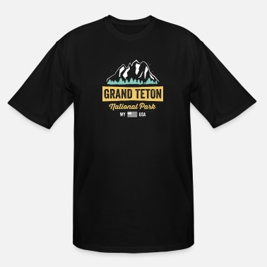 Park Grand Teton National Park TShirt Wyoming USA Souvenir - Men's Tall T-Shirt