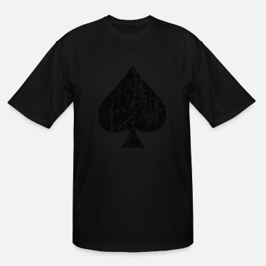 Cool Design Ace Of Spades Spades Sign Design - Men's Tall T-Shirt