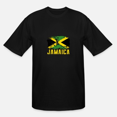 Jamaica Football Flag Of Jamaica Football - Men's Tall T-Shirt