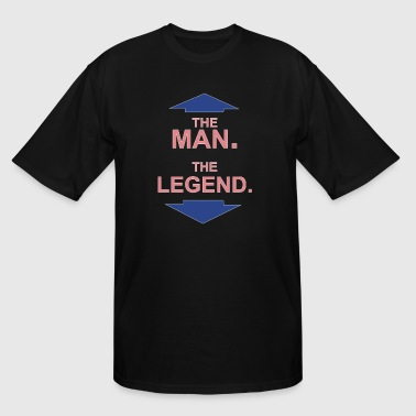 Funny Legend Of Zelda THE MAN THE LEGEND FUNNY - Men's Tall T-Shirt