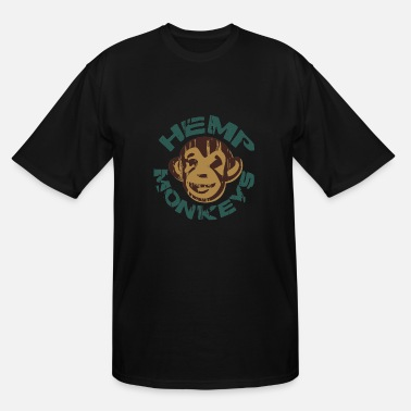 Hemp Hemp monkeys - Men's Tall T-Shirt